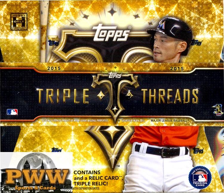 2015 Topps Triple Threads Baseball 9 Box Inner Case Break ** Random #1